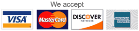 Credit card logos we accept